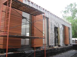 деревянный сайдинг здание